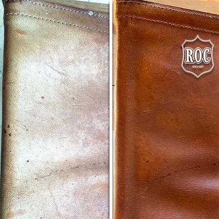 Læderstol farves med ROC Gold Quality Narvsværte