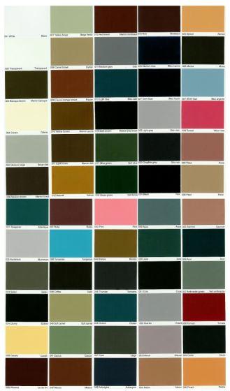 Farvekort (inkl. brevforsendelse)