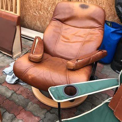 Slidt Stressless læderstol