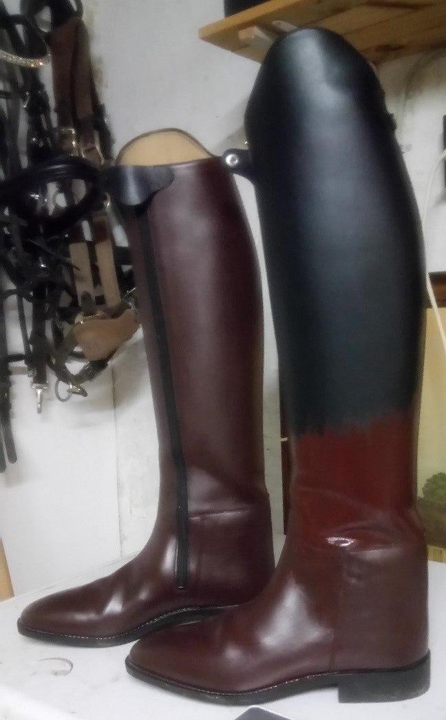 Farveskift af læder ridestøvler med Gold Quality Læderfarve