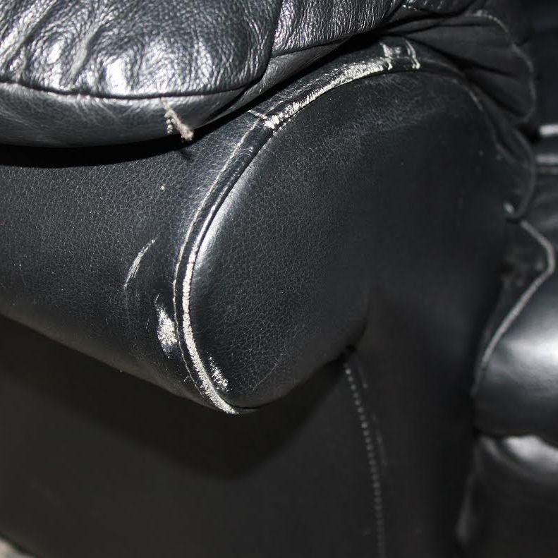 Slidt læder armlæn