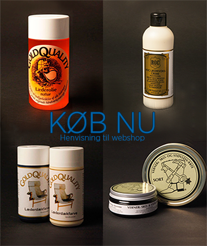 Udvalg af Roc Danmarks læderpleje produkter