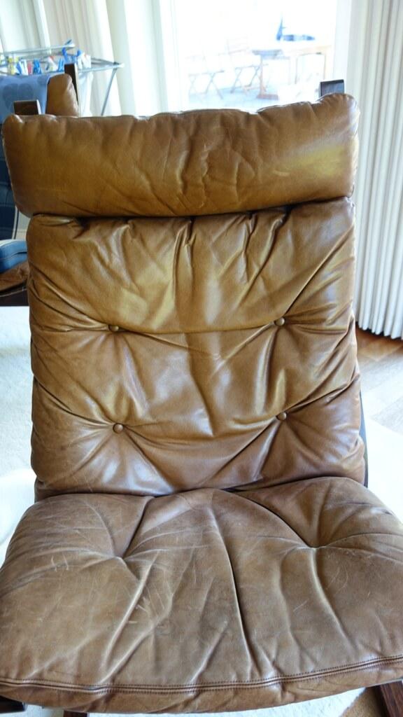 Meget falmet Siesta læderstol