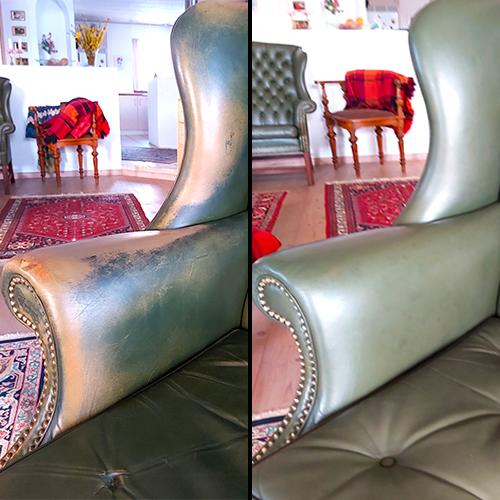 Læderstol bliver flot med ROC Gold Quality Læderfarve