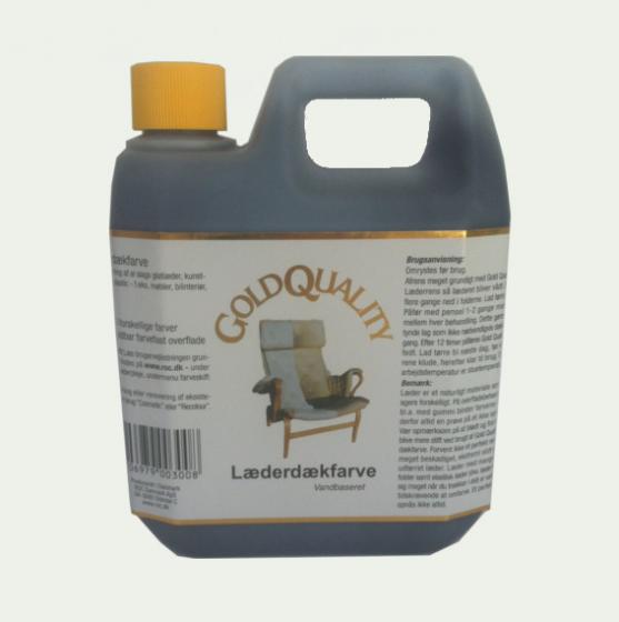 Læderdækfarve 1000 ml., Gold Quality - 60 farver