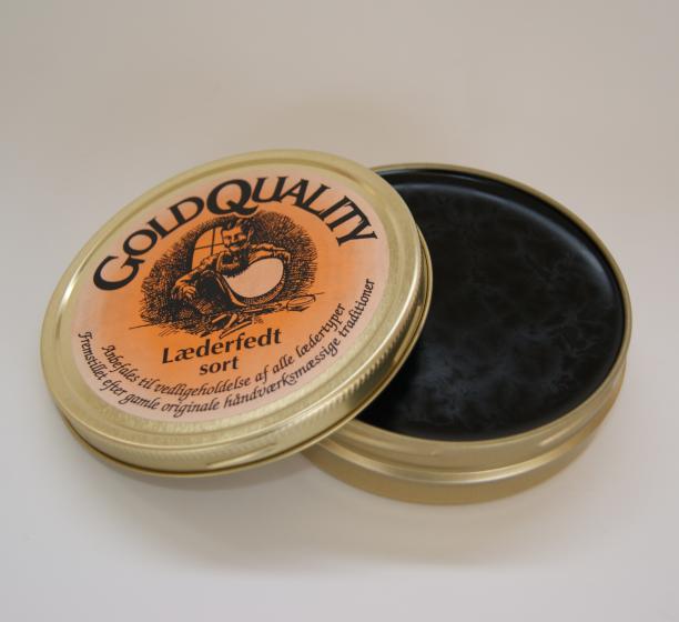 Gold Quality Læderfedt Sort-190 ml