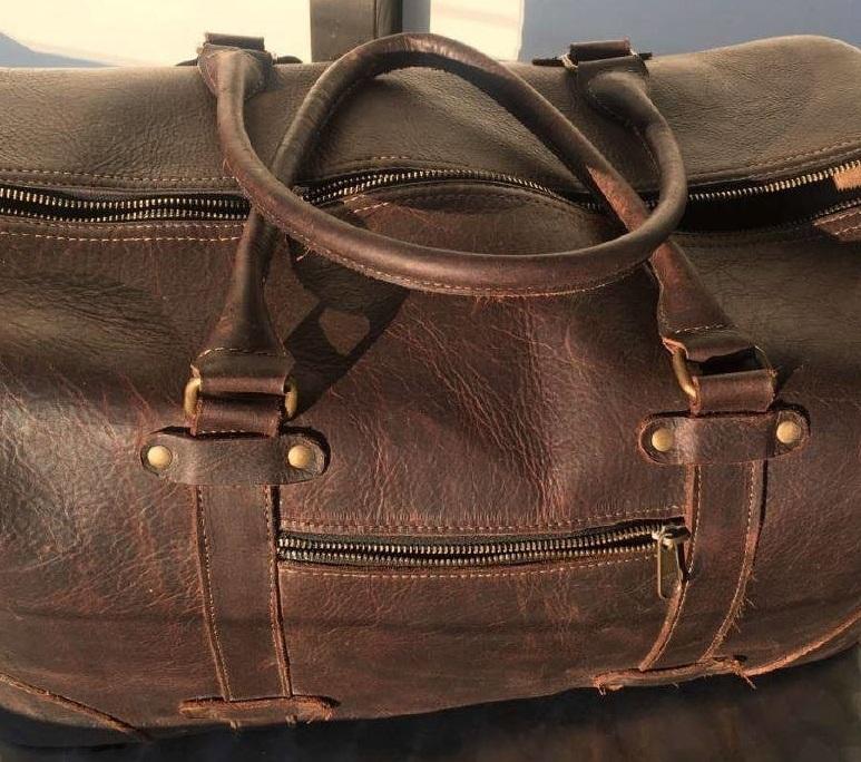 Læder taske lugter dårlig af mug