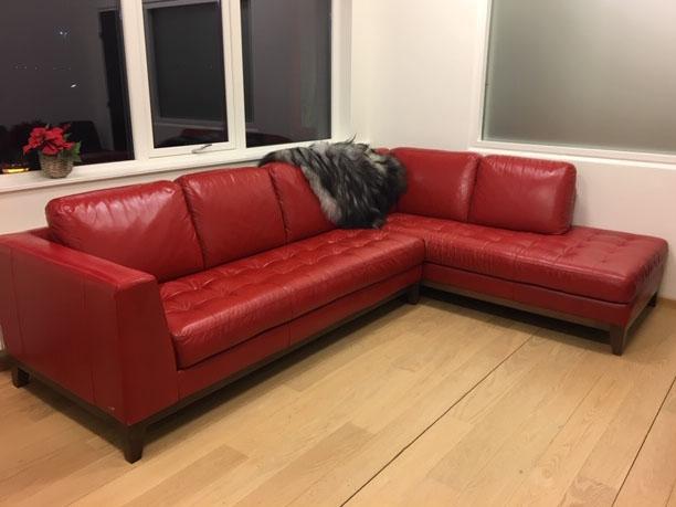 gammelt sofa efter behandling