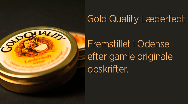 Gold Quality Læderfedt - Pleje af lædermøbler såvel som alle former for glat læder som bilsæder, lædertøj, skindtasker, og fra finere lædersko til støvler